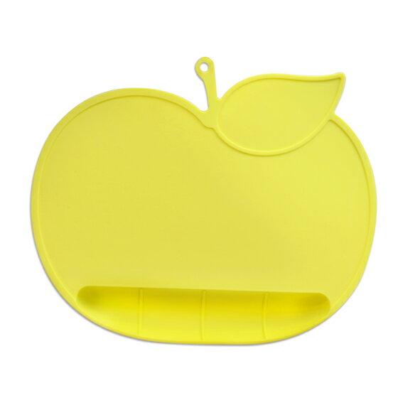 genkibebi元氣寶寶蘋果矽膠防落止滑餐墊-黃色