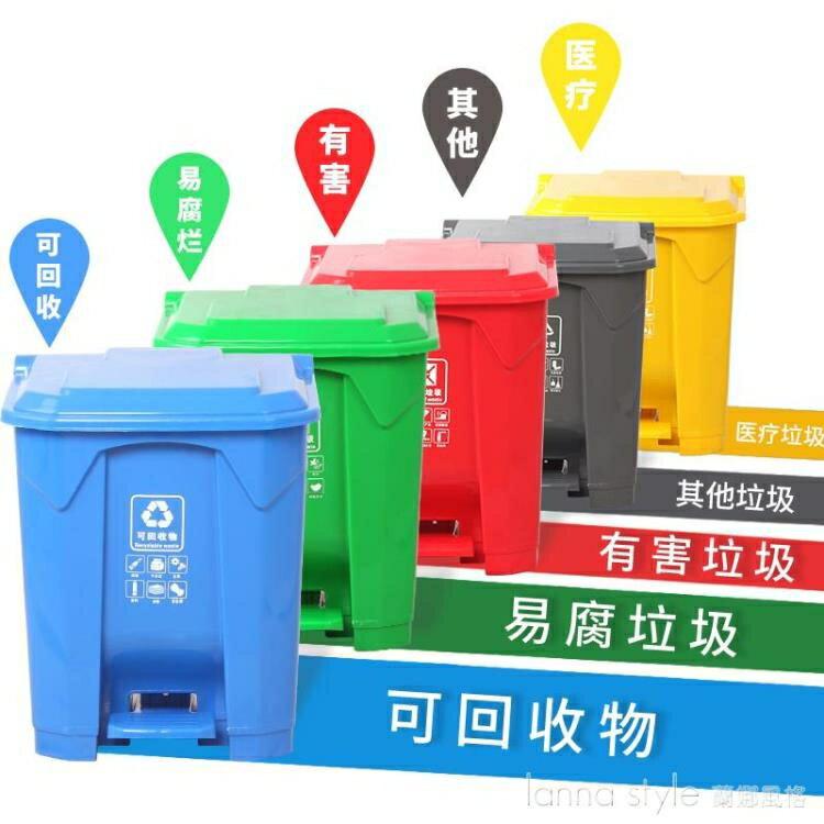 帶內桶垃圾分類垃圾桶腳踩帶蓋家用廚房專用幼兒園腳踏客廳創意