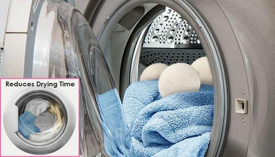 6pk Wool Dryer Balls - Natural Fabric Softener 2