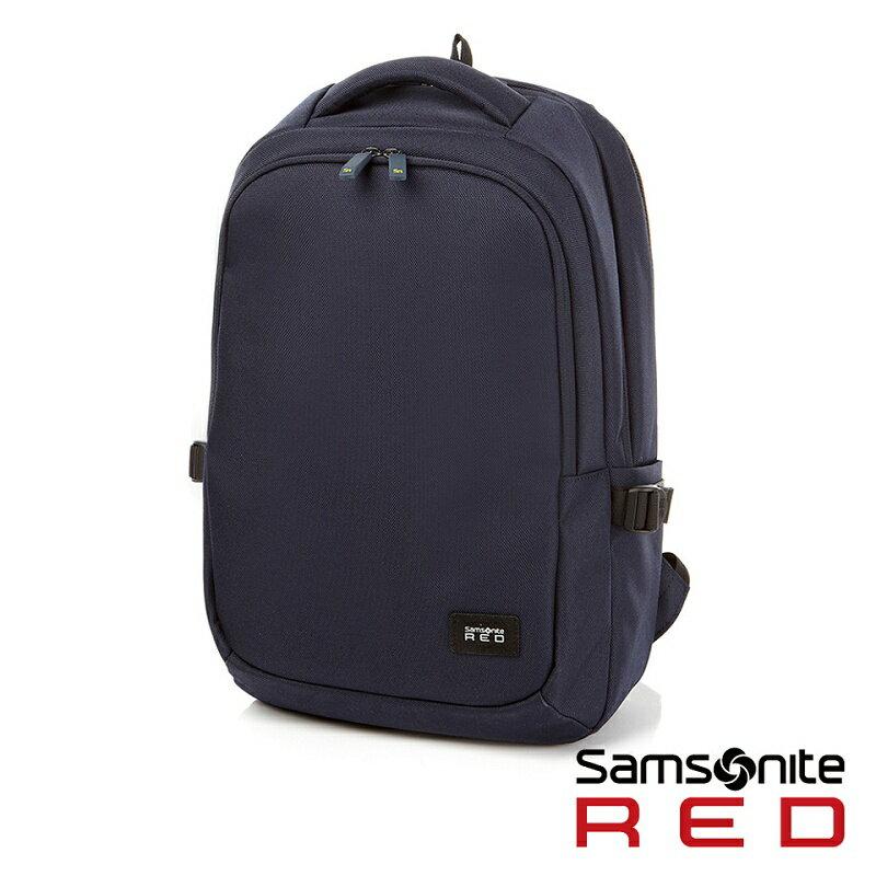 "Samsonite RED  TEDWIN  休閒時尚中性筆電後背包 14""(海軍藍)"