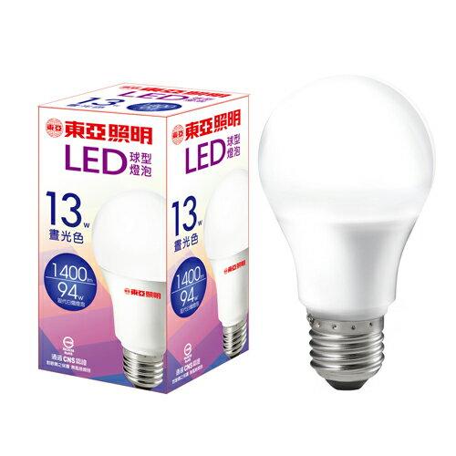★買一送一★東亞 LED球型燈泡-晝光色(13W)【愛買】