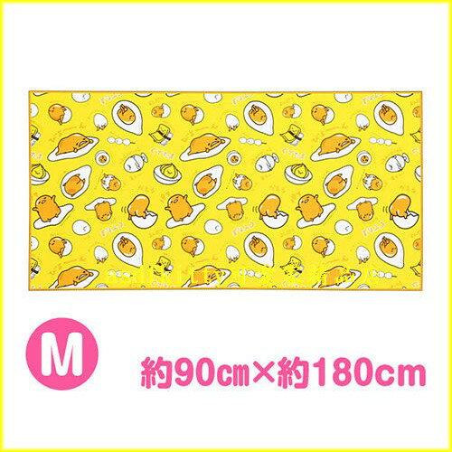 asdfkitty可愛家☆蛋黃哥 野餐墊-M號-90*180公分-厚鋁箔材質-日本正版商品