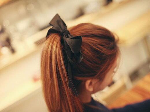 【櫻桃飾品】韓版緞面大蝴蝶結造型髮束髮圈超商取貨貨到付款批發【23862】