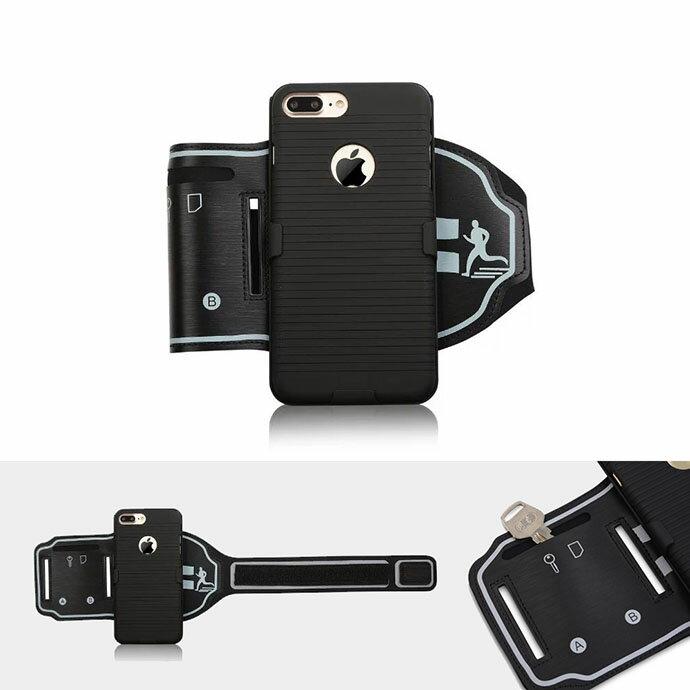iPhone 7 Plus 專用 手機雙面背殼運動臂帶 運動臂套 (SB059) 【預購】 2