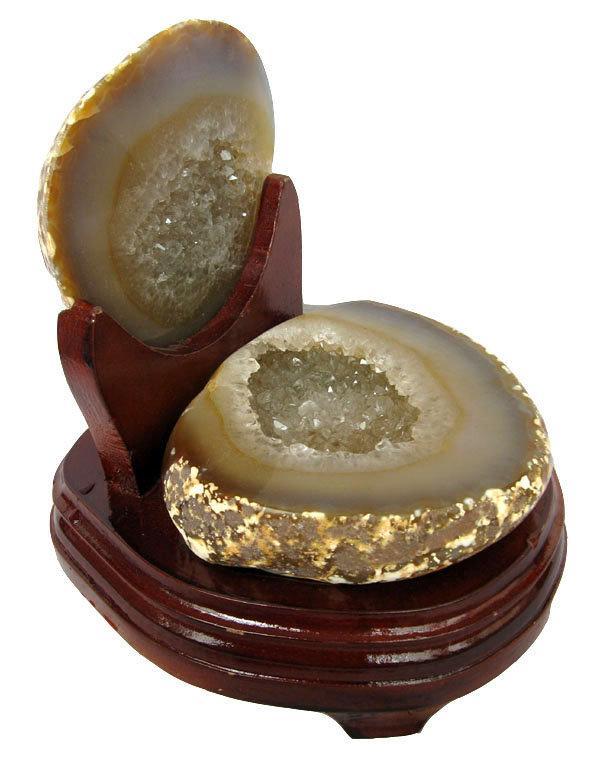 水晶聚寶盆擺件1.95kg瑪瑙聚寶盆錢袋子雷公蛋特價