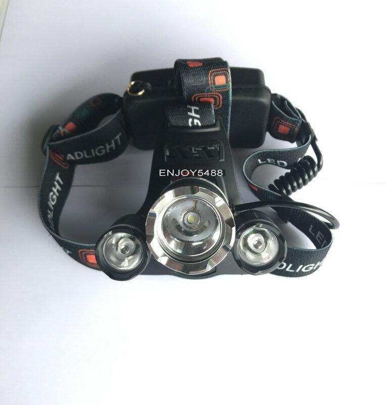 超亮款美國CREE-三泡T6 LED頭燈 強光聚焦 3段式功能切換探照燈 釣魚登山露營路跑出外工作最好幫手