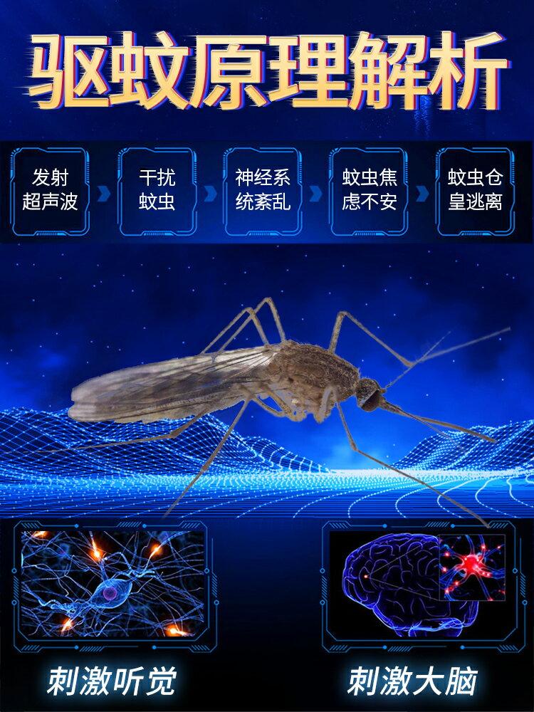 充電捕蚊燈 超聲波驅蚊神器家用室內驅蟲蚊子蒼蠅克星燈器電子滅蚊滅蠅一掃光『XY15621』