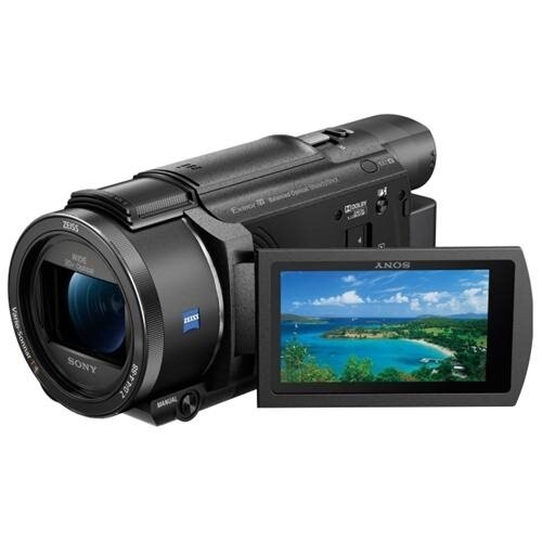 "Sony Handycam FDR-AX53 Digital Camcorder - 3"" - Touchscreen LCD - Exmor R CMOS - 4K - Black - 16:9 - 8.3 Megapixel Video - XAVC S, H.264/MPEG-4 AVC, AVCHD, MP4 - 20x Optical Zoom - 250x Digital Zoom - Optical (IS) - HDMI - USB - SDHC, SDXC, Memory Stick P 0"