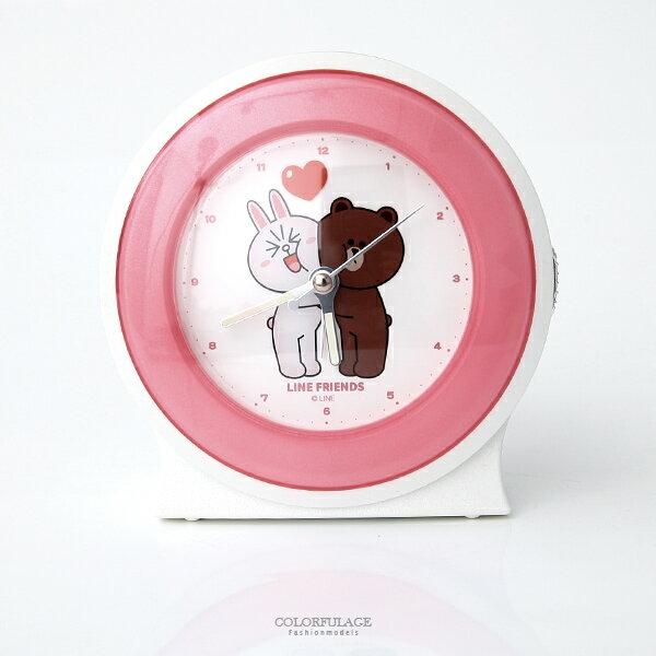 LINE熊大兔兔相親相愛鬧鐘 柒彩年代【NVK10】原廠公司貨