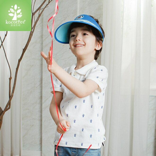 Kocotree◆時尚可愛卡通蝙蝠俠兒童親子款防曬透氣空頂遮陽帽-藍色