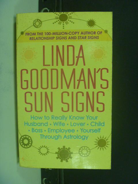 【書寶二手書T9/原文小說_NKC】Linda Goodman's Sun Signs_黃底紅字
