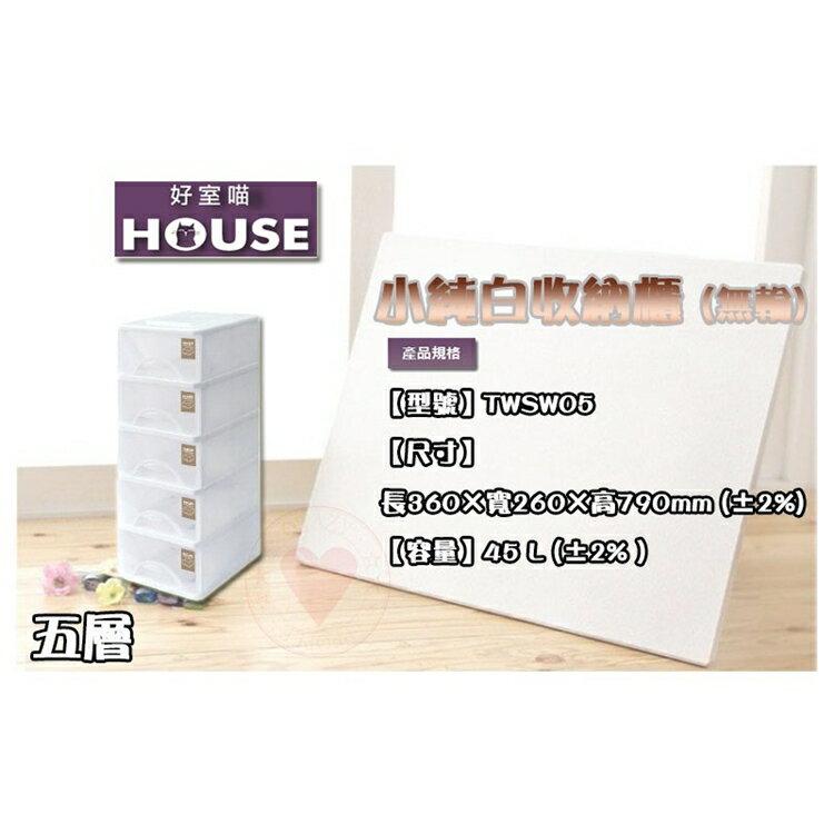 免運 (五層) 小純白收納櫃 大詠 HOUSE 收納箱 整理箱 置物箱 收納箱 置物箱 抽屜整理箱 TWSW05