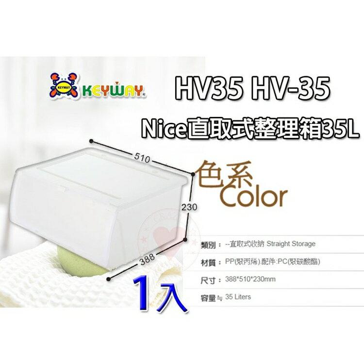 (1入) Nice直取式整理箱35L HV-35 ☆愛收納☆ 直取式收納箱 整理箱 置物箱 收納箱 HV35