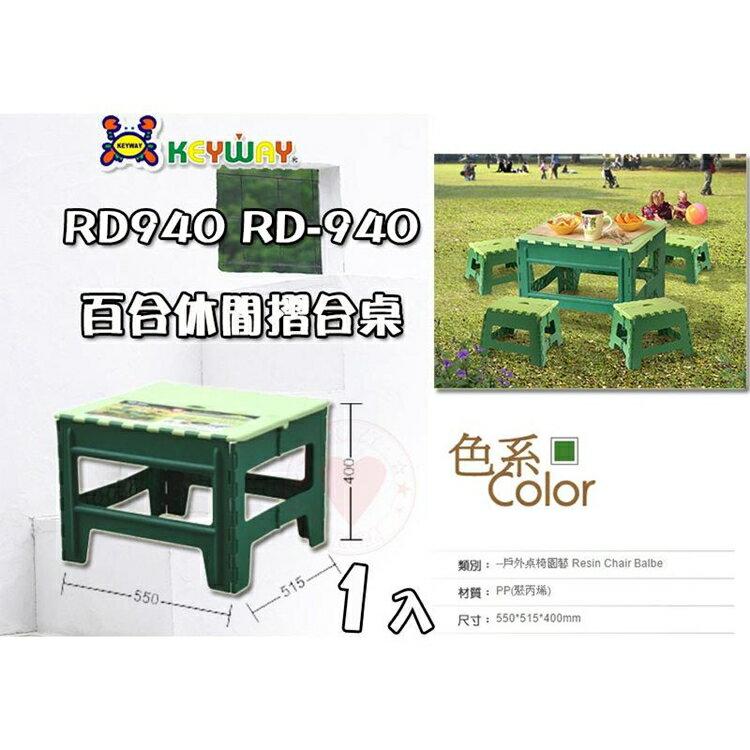百合休閒摺合桌 (40cm) RD940 摺疊椅 折疊椅 海灘椅 板凳 烤肉椅 折合椅 keyway 聯府