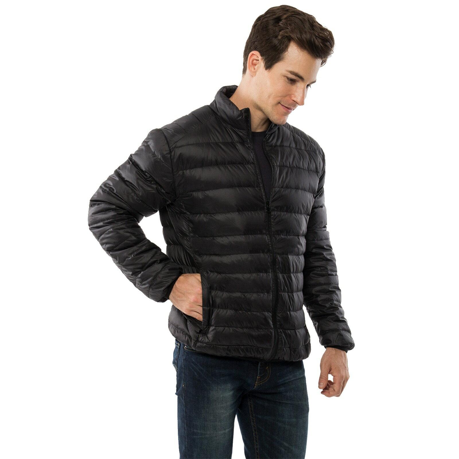 4cf3e50de3f Alpine Swiss Niko Men's Down Jacket Puffer Bubble Coat Packable Light Warm  Parka 3