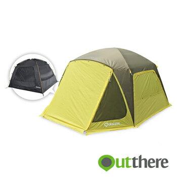 【【蘋果戶外】】好野Outthere馬卡龍6人帳『棕色卓越版』全國唯一可換外套的帳篷