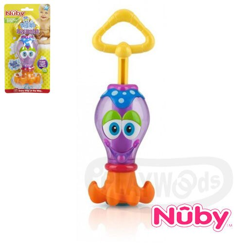 ~Playwoods~^~Nuby^~ 洗澡玩具~烏賊水槍 SQUID SQUIRTER