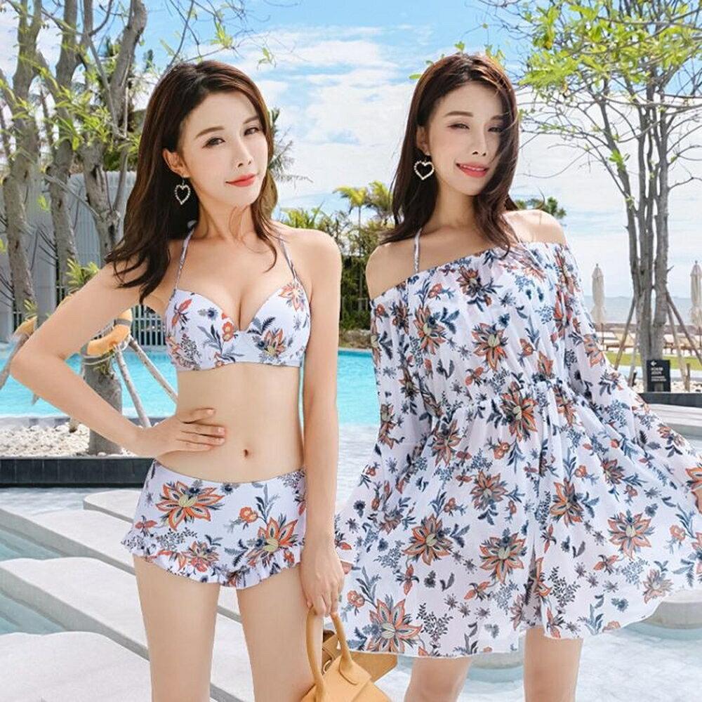 新款泳衣女比基尼三件套韓國小胸聚攏性感溫泉小 艾家生活館