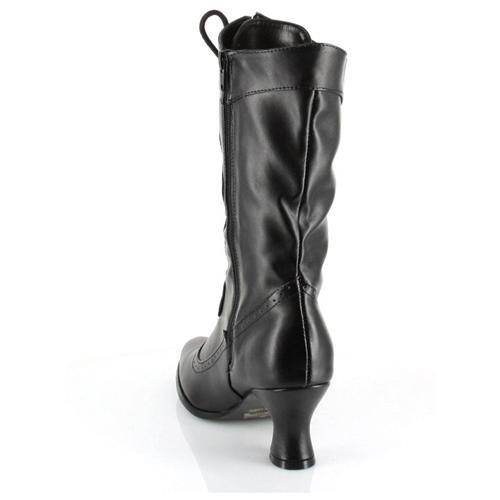Women's Amelia Boot - Color: Black PU, Size: 7 3