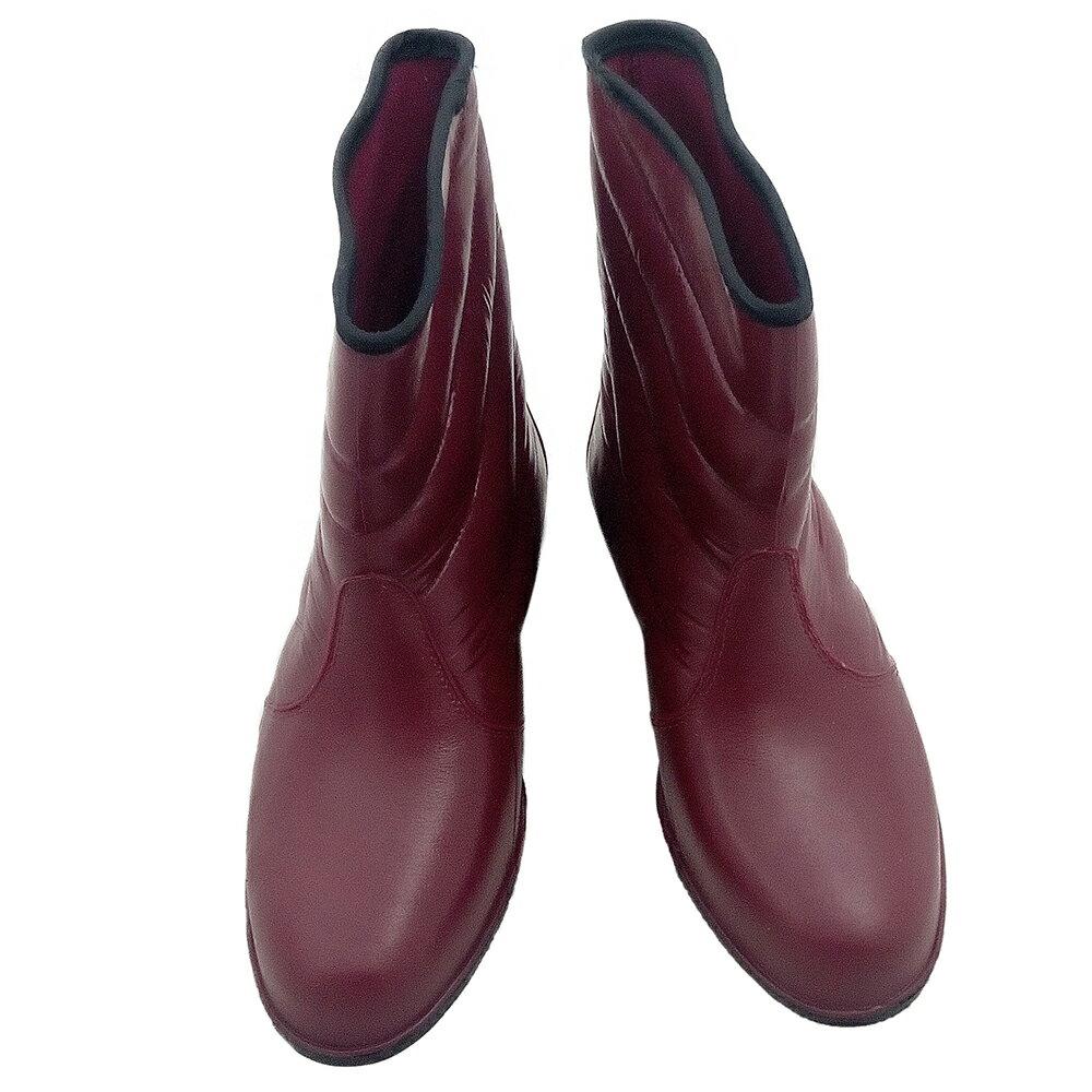 小玩子 百振江 女用 桃紅 雨鞋 舒適 造型 耐磨 耐穿 防滑 防水 F9309
