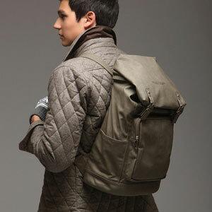 LINAGI里奈子精品【E0-30】韓國代購 時尚有型前大方拉鍊袋側邊袋拉鍊袋雙皮帶釦方型後背包