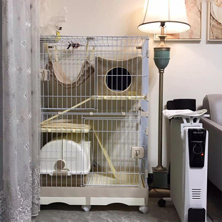 貓籠 貓籠子家用室內 貓別墅大號三層貓舍雙層貓房子