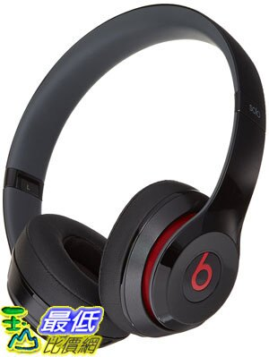 [106美國直購] Beats 耳機 Solo 2 Wired On-Ear Headphone - Black (Certified Refurbished)