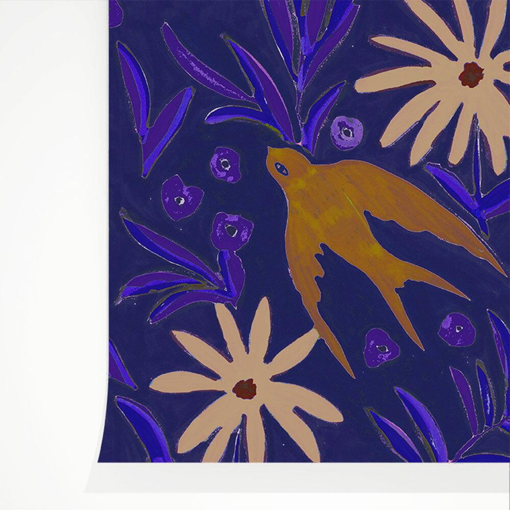 法國壁紙 燕子圖案  2色可選  Season Paper 壁紙 0