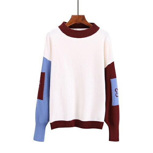 *ORead*圓領燈籠袖甜美可愛毛衣(白色均碼) 0