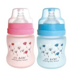 優生 真母感特護玻璃奶瓶寬口徑120ml(藍.粉)【德芳保健藥妝】顏色隨機出貨