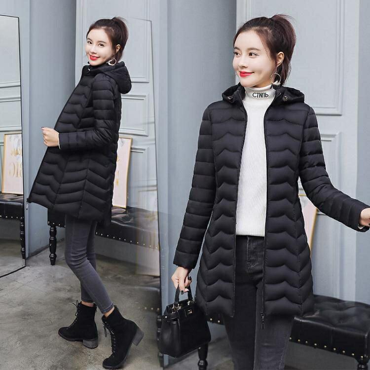 夯貨折扣! 羽絨外套 節女士棉衣中長款2021年冬季新款棉襖輕薄款媽媽羽絨棉服外套