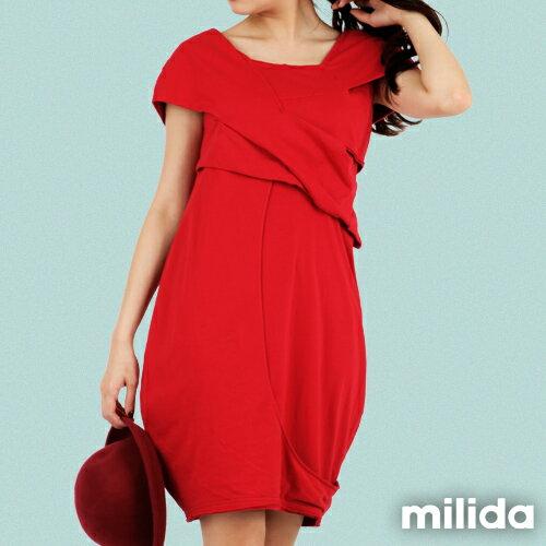 【Milida,全店七折免運】-春夏商品-造型款-甜美花苞洋裝 7