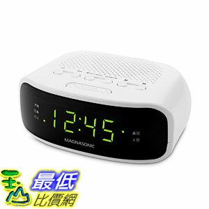 [107美國直購] Magnasonic Digital AM/FM Clock Radio Dual Alarm ( SONY ICF-C318 收音機電子鬧鐘 取代款) 套房 民宿 白色