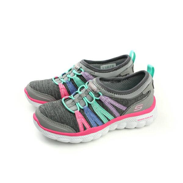 HUMAN PEACE:SKECHERS懶人鞋運動鞋休閒童鞋灰色多彩85221LGYMTno666