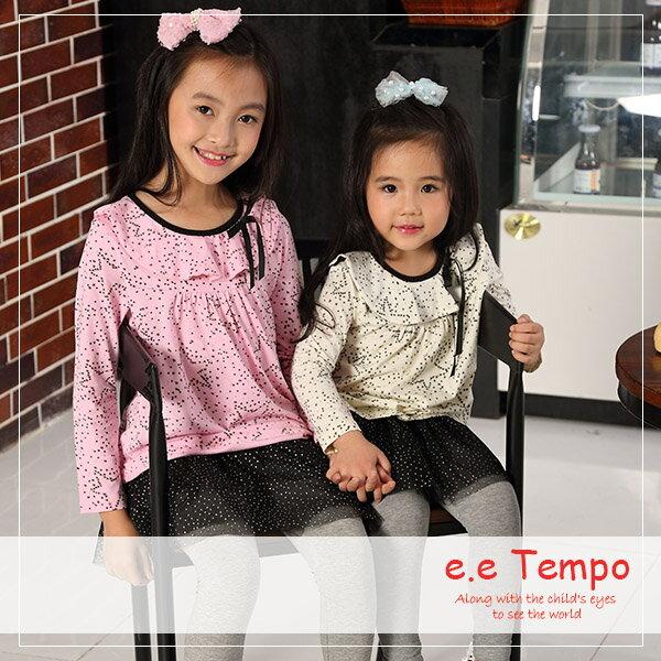 Pink Nana:eetempo童裝女童星星造型綁帶棉質上衣A11103現貨