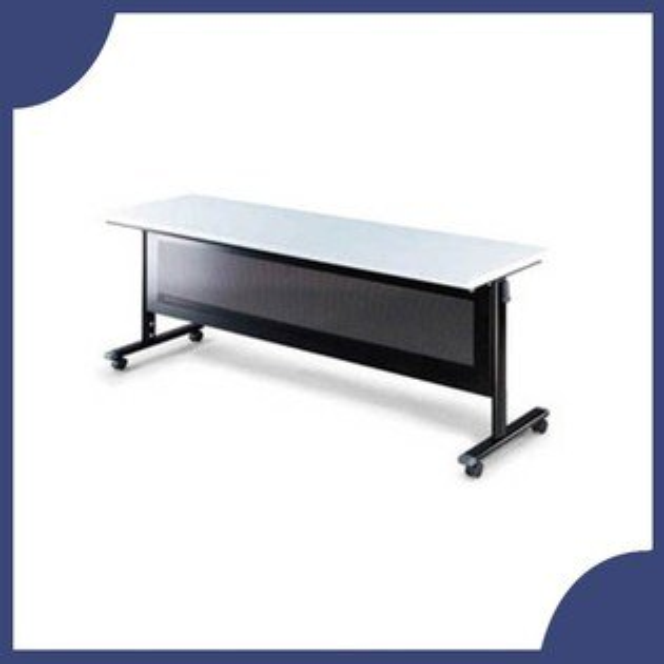 『商款熱銷款』【辦公家具】HB-1845G黑桌架灰色桌板會議桌辦公桌書桌桌子
