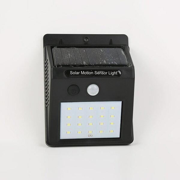 LED太陽能感應燈內製電池防水太陽能20LED感應壁燈感應投光燈LED感應燈室外感應太陽能光控人體感應燈燈