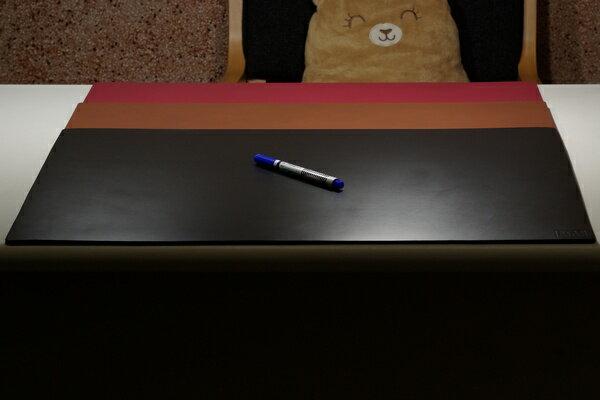 皮革牛皮皮製真皮皮墊辦公桌墊皮辦公桌墊 黑色