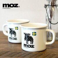 MOZ x 富士琺瑯/  麋鹿北歐雜貨 琺瑯杯2入組-千羽先生食酒器 和風家居-居家生活推薦
