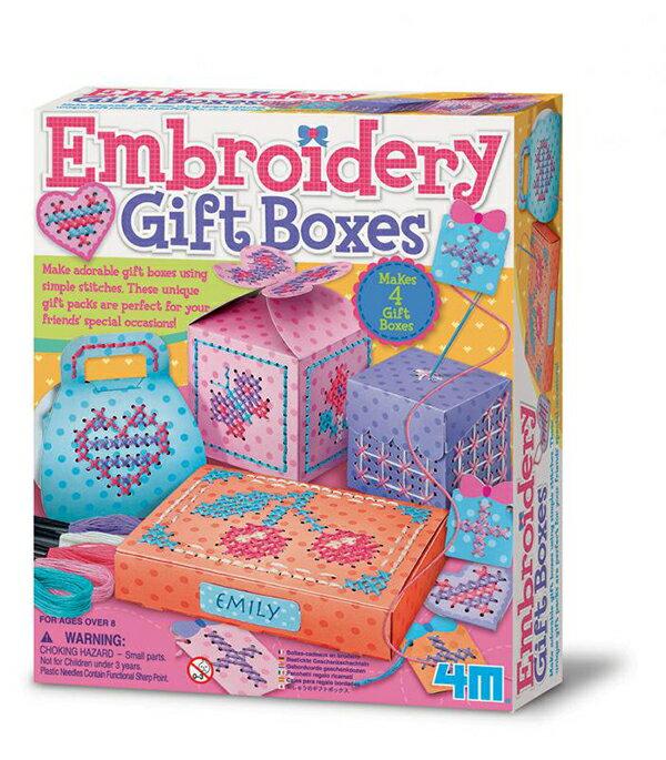 ~ 4M 美勞創作~刺繡 盒 Embroidery Gift Boxes