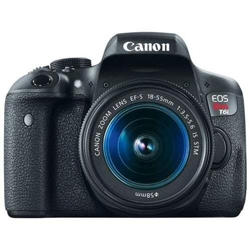 "Canon EOS Rebel T6i 24.2 Megapixel Digital SLR Camera with Lens - 18 mm - 55 mm - 3"" Touchscreen LCD - 16:9 - 3.1x Optical Zoom - E-TTL II - 6000 x 4000 Image - 1920 x 1080 Video - HDMI - HD Movie Mode - Wireless LAN 0"