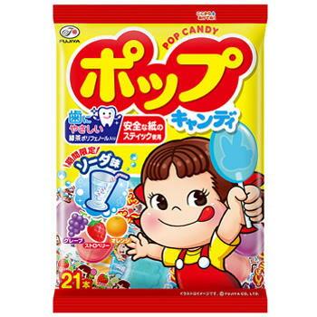 不二家 POP 棒棒糖 水果口味 期間限定 21入 日本進口零食 JUSTGIRL