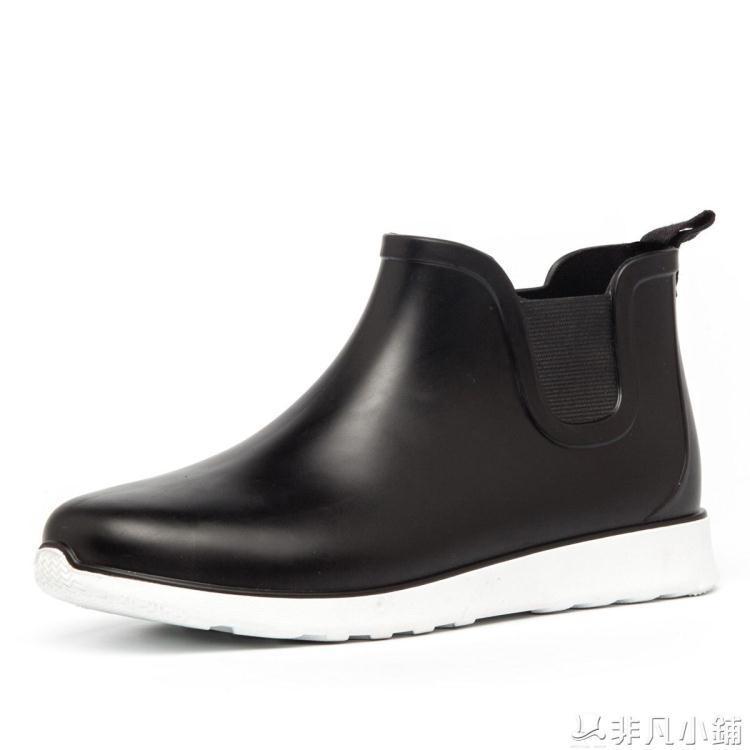 秋冬雨靴釣魚靴廚房水鞋套鞋短筒膠鞋防水鞋防滑雨鞋男洗車低筒
