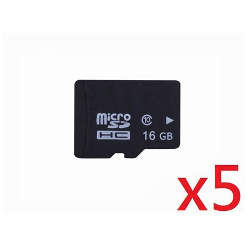 WholeSale 5 piece OEM 16GB 16G microSD microSDHC Class 10 micro SD SDHC C10 TF Flash Memory Card + SD Adapter 0