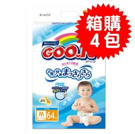 【悅兒樂婦幼用品?】GOO.N 日本大王 頂級境內版紙尿褲M (64片x4包)【產地日本】