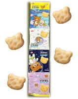 拉拉熊餅乾與甜點推薦到日本 龜田製果 龜田懶懶熊 四連熊造型餅乾 米果 40g/條就在日韓小潼推薦拉拉熊餅乾與甜點