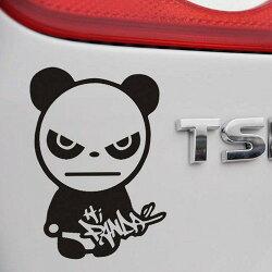HI PANDA熊貓車貼 可愛卡通熊貓 搞笑熊貓 車身貼 車尾貼 汽車貼紙 遮刮痕 機車 重機 沂軒精品A0190-2
