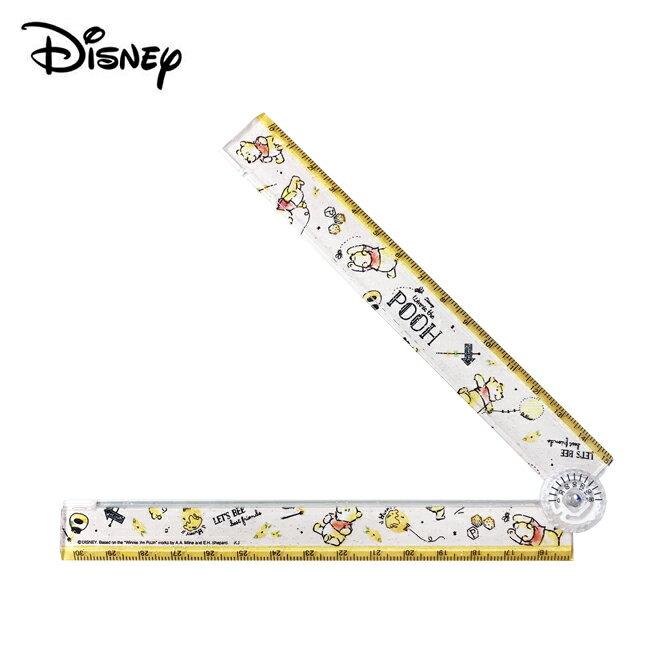 【日本正版】小熊維尼 摺疊直尺 30cm 折尺 直尺 Winnie 維尼 迪士尼 Disney - 991428