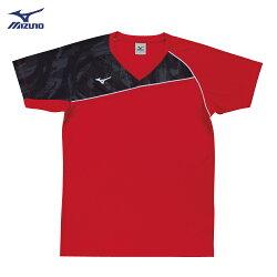 V2TA7G1862(紅X灰黑)男女通款 吸汗快乾、Slim FIT合身版型 排球上衣(【美津濃MIZUNO】