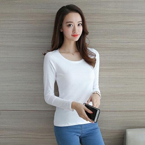 純色上衣長袖衫T恤 (2色,S~2XL) 【OREAD】 0